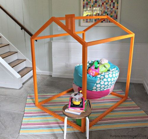 diy kids playhouse frame