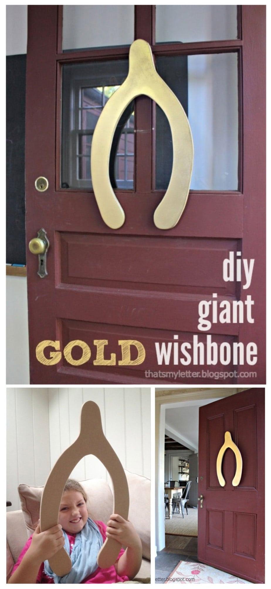 diy giant wishbone