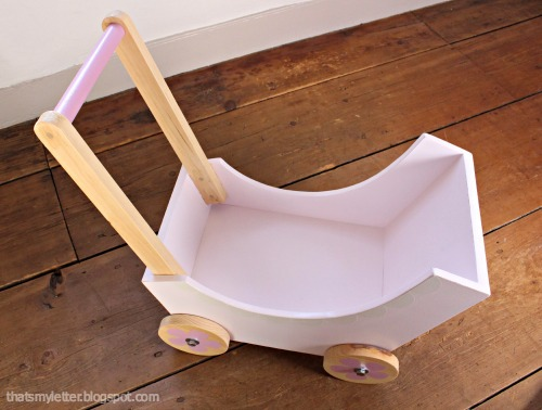 diy doll pram empty