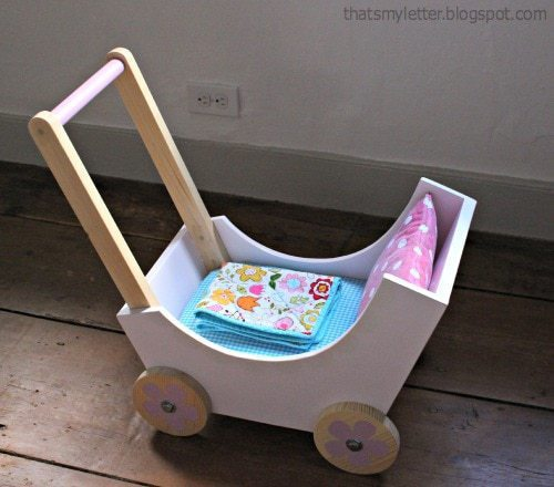 diy doll pram with bedding
