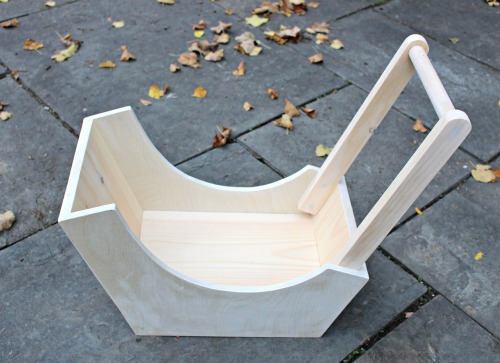doll pram natural wood