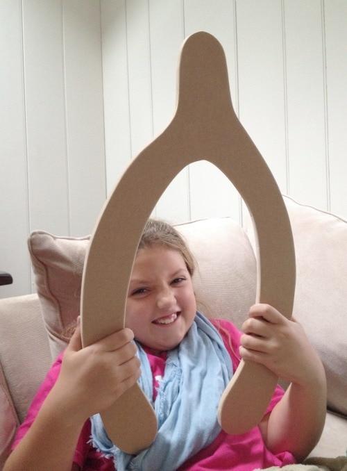 giant wishbone cut from MDF