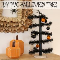 """""""P"""" is for PVC Halloween Tree"""