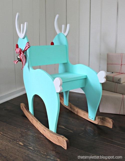 diy reindeer rocker