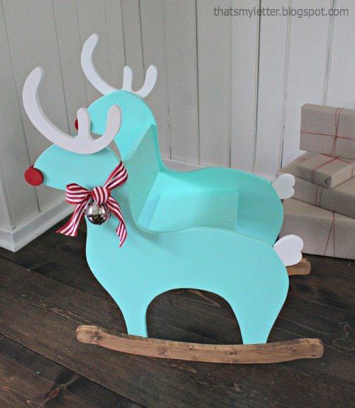 diy kids reindeer rocker side view