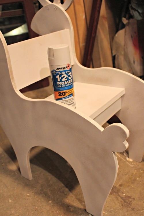 spray primer on rocker