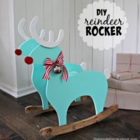 DIY Kids Reindeer Rocker