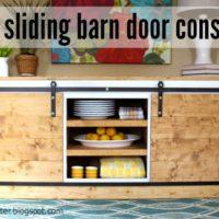 DIY Sliding Barn Door Console Hardware Tutorial