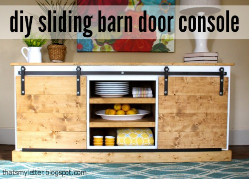 sliding barn door console hardware plans