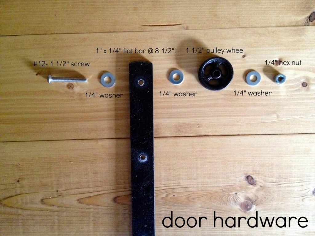 diy sliding barn door hardware