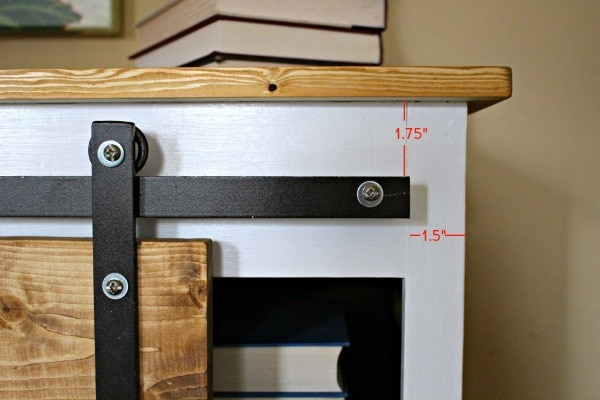 Diy Sliding Barn Door Console Hardware Tutorial Jaime