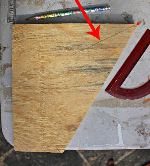 draw line on plywood at 36 degrees