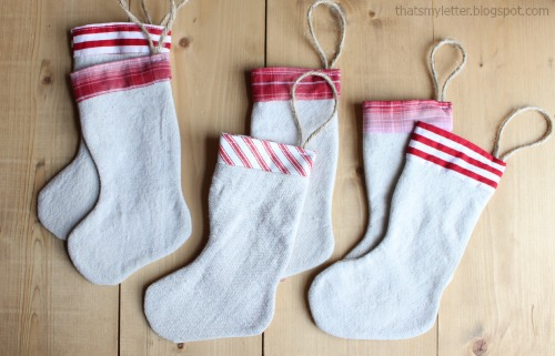 drop cloth mini stockings