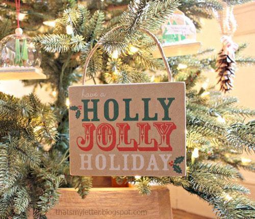 repurposed paper bag ornament