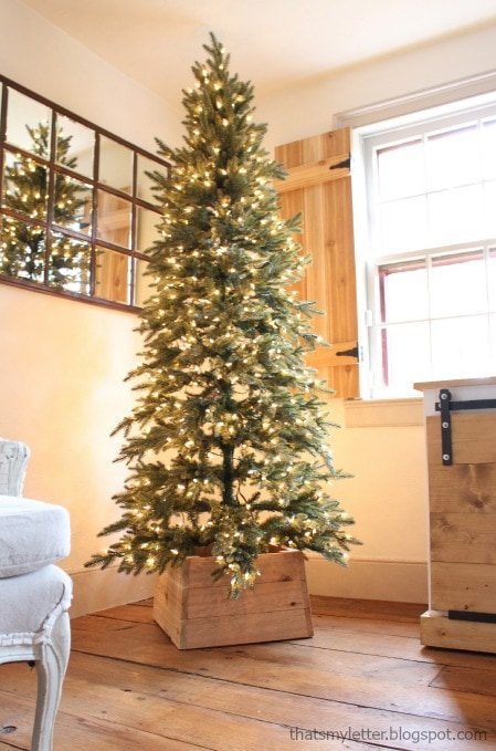 Deck the halls diy style jaime costiglio of course i started with the tree and this one is a beauty tree classics sent me this lovely 7 foot pre lit slim christmas tree and i am smitten solutioingenieria Choice Image