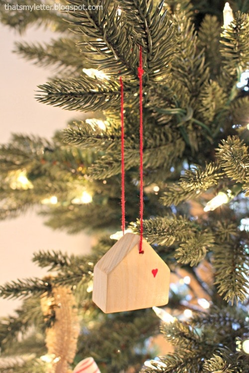 scrap wood house ornaments