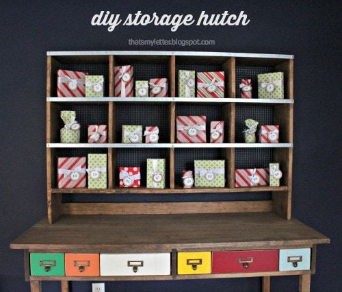 diy storage hutch for desk