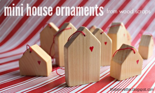 diy mini wood house ornaments