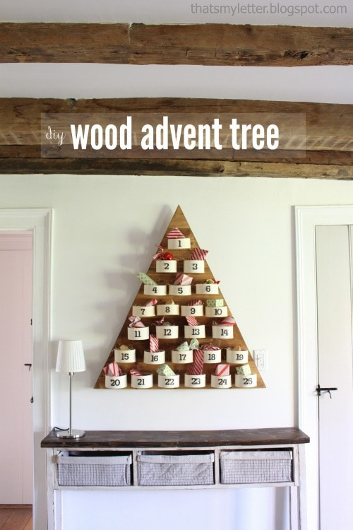 diy wood advent tree