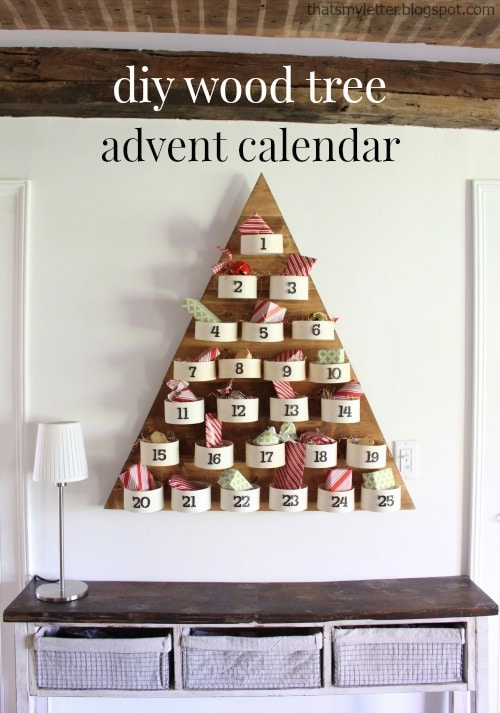 Diy Wood Tree Advent Countdown Calendar Jaime Costiglio