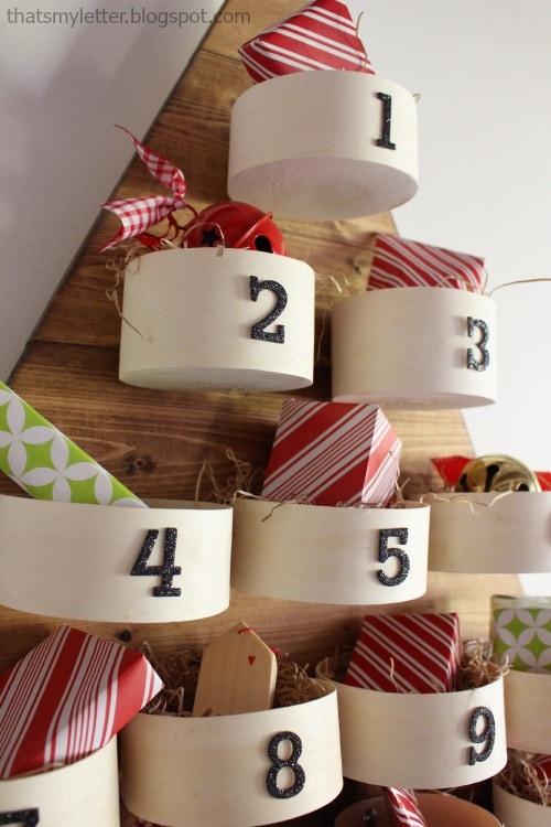 advent calendar round bins