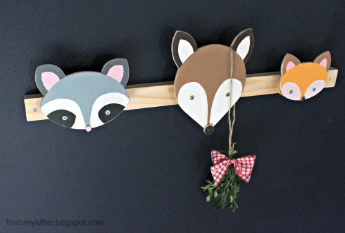 animal wall hooks installed