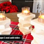 """""""C"""" is for Copper & Wood Candle Holders"""