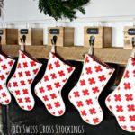 DIY Swiss Cross Stockings