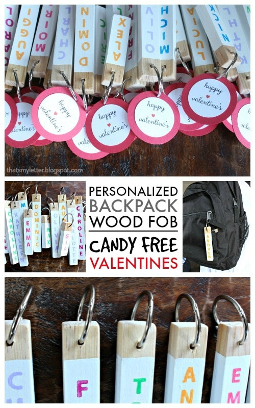 diy candy free valentines backpack fobs
