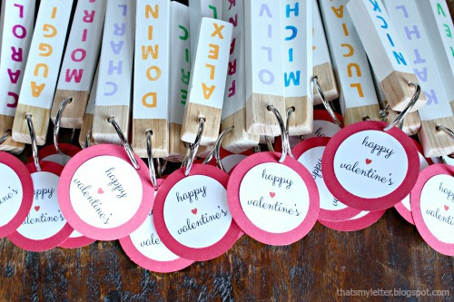 wood key fob valentines