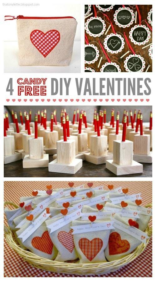candy free diy valentines