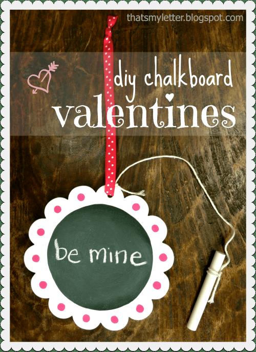diy individual chalkboard valentines