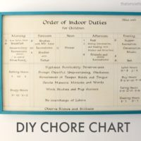 """""""C"""" is for Chore Chart"""
