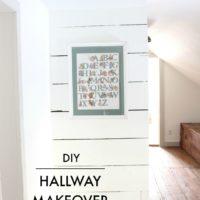 DIY Upstairs Hallway Makeover