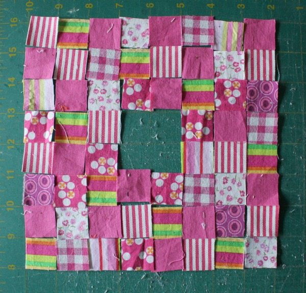 "1"" fabric pieces"