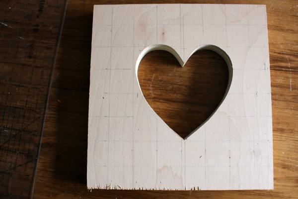plywood heart cut out grid