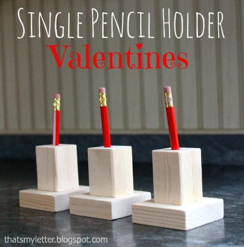 diy pencil holder valentines