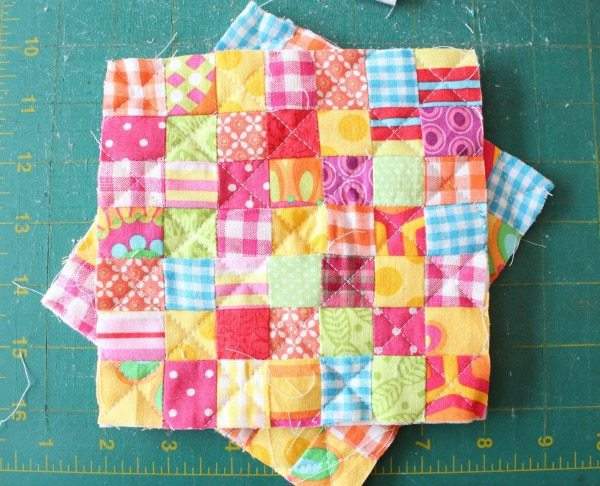 quilted mini patchwork tops
