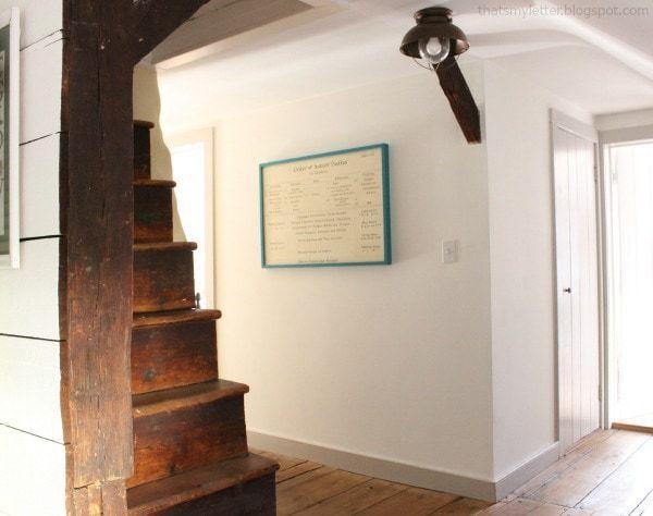 second floor hallway antique 1740 farmhouse