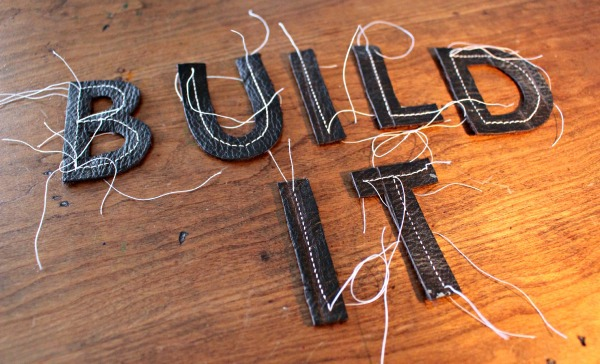 leather lettering