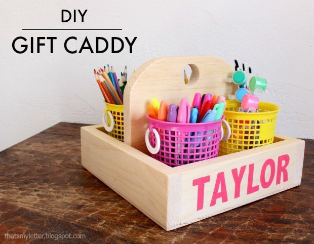 diy wood gift caddy
