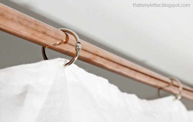 diy privacy curtain on copper pipe