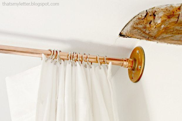 copper pipe curtain hardware