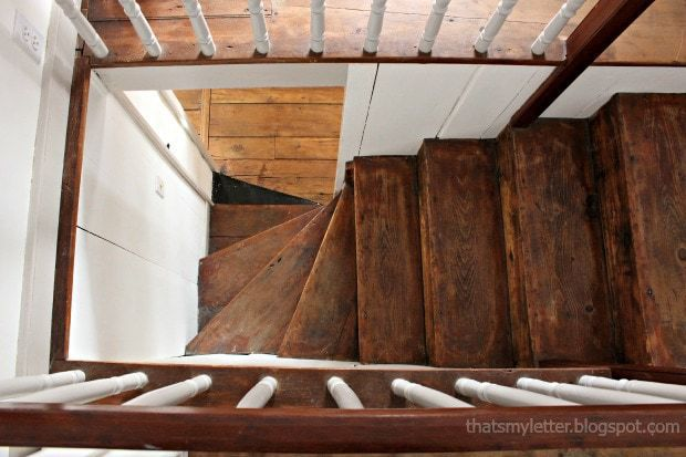 antique farmhouse butterfly stairs