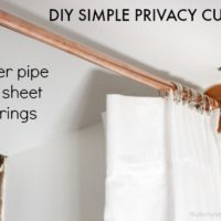 DIY Privacy Curtain