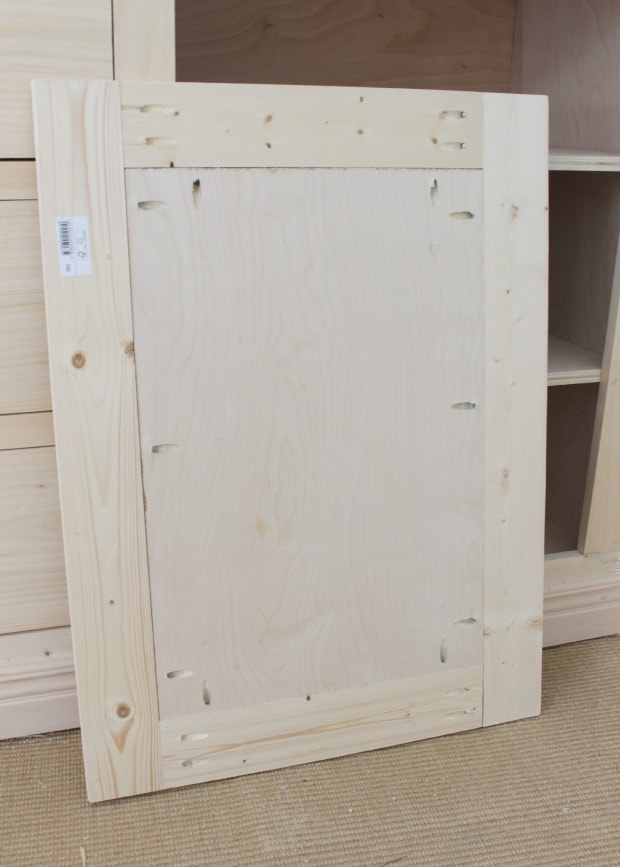 sideboard cabinet doors pocket hole method