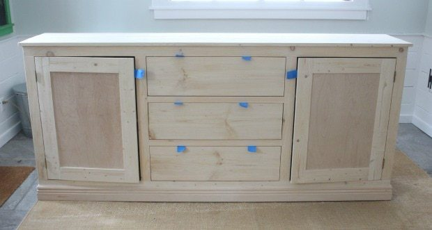 long sideboard without hardware