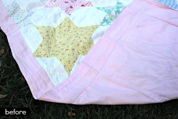 vintage quilt backing