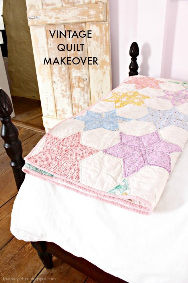 vintage quilts girls bedroom