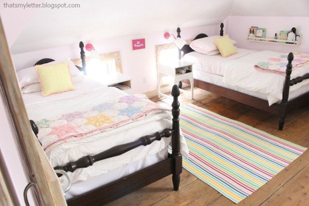 antique girls shared bedroom